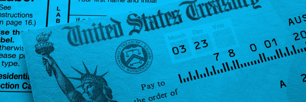 Brian Marino, CPA Personal-Tax-Preparation tax return treasury check blue cast